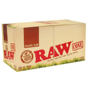 "RAW Organic Cone 1 1/4"" Rolling Papers-0"