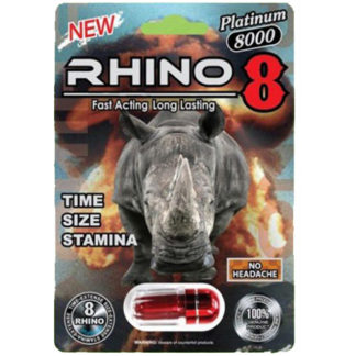Rhino 8 Platinum 8000 Male Enhancement Pills-0